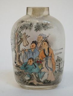 Reverse Glass Painted Snuff Bottle