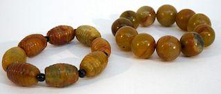 Two Soapstone Bead Bracelets