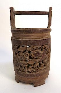 Carved Bamboo Pot