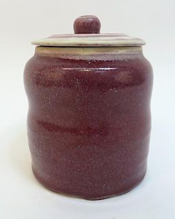Lidded Chinese Ceramic Jar