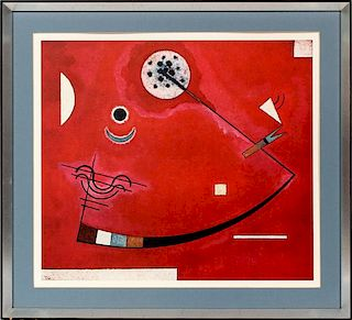 AFTER WASSILY KANDINSKY COLOR LITHOGRAPH