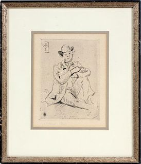PAUL CEZANNE POSTHUMOUS PRINTED ETCHING ON PAPER