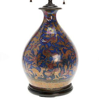 Antique Persian lusterware vase