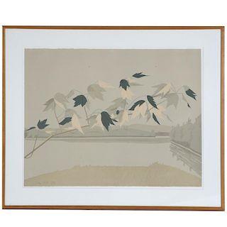 Alex Katz, signed limited ed. lithograph