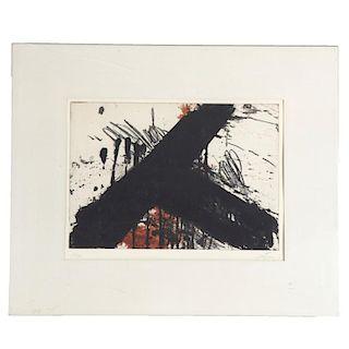 Antoni Tapies, color etching