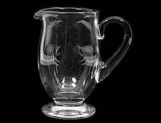 BACCARAT CRYSTAL PITCHER