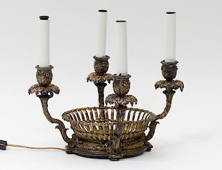 LOUIS XVI STYLE BRONZE BOUILOTTE LAMP