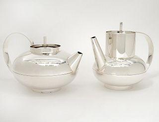 CHRISTOFLE SILVER PLATED TEA POT AND COFFEE POT