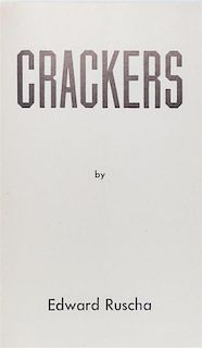 * RUSCHA, ED. Crackers. Hollywood, 1969. First edition.