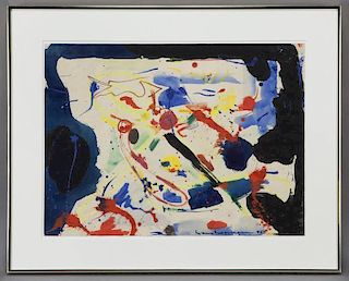 "Hans Hofmann, ""Untitled"" watercolor and gouache"