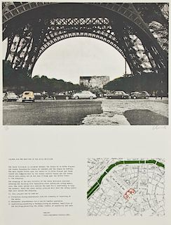 "Christo and Jeanne-Claude (1935) ""Packed Building, Project for Wrapping the Ecole Militaire, Paris"", 1970"