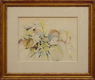 IN THE STYLE OF CHARLES DEMUTH (1883-1935): HOSTA