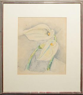 IN THE STYLE OF CHARLES DEMUTH (1883-1935): CALLA LILIES