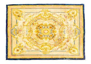 An Aubusson Design Wool Rug