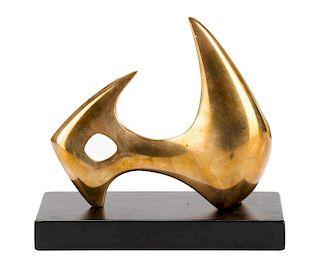 "Denis Mitchell Signed 1969 Bronze, ""Selena"""
