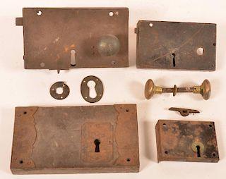 Four Late 18th/ Early 19th Century Box Locks.