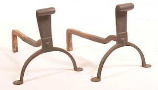 19th Century Iron Andirons.