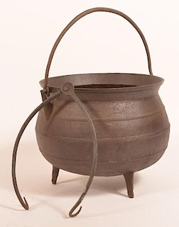 Cast Iron Gypsy Kettle and Pot Lifter.
