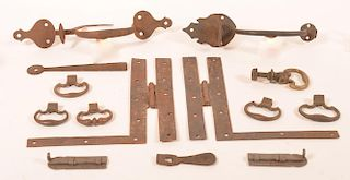Lot of Door Thumb Latches and Hardware.
