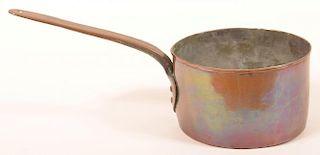 19th Century Copper Sauce Pan.