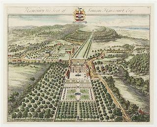 * KIP, JOHANNES. Two aerial views. London, ca. 1708.
