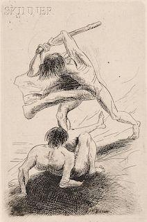 Odilon Redon (French, 1840-1916)      Cain et Abel