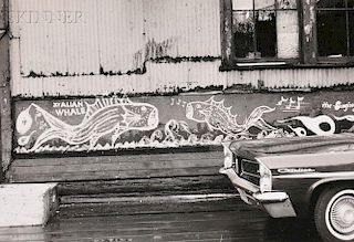Walker Evans (American, 1903-1975)      Lower Manhattan, Painted Sign