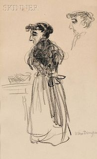 Kees van Dongen (Dutch, 1877-1968)      Sketch of a Woman