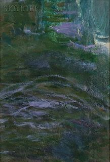 Claude Monet (French, 1840-1926)      Study of Water/An Oil Study Fragment