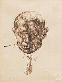 George Grosz, (German, 1893-1959), Portrait of a Man