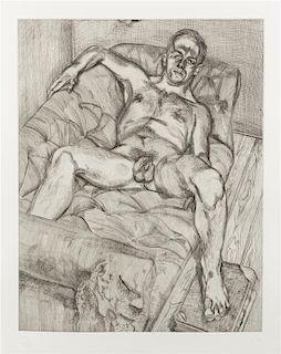 * Lucian Freud, (British, 1922-2011), Man Posing, 1985
