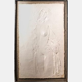 Frank Gallo (b. 1933) Dancer, Embossed paper relief sculpture,