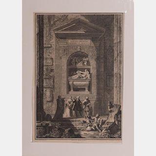 Giovanni Volpato (1733-1803) Pisis in Coemeterio, 1796, Engraving.