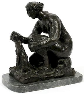 AFTER PIERRE-AUGUSTE RENOIR BRONZE SCULPTURE