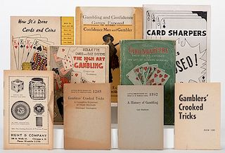 [Cheating and Expos_] Group of 12 Vintage Booklets on Card Sharping and Cheating. Including Card Sharpers