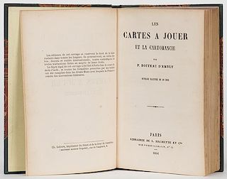DÍAmbly, P. Boiteau. Les Cartes a Jouer et la Cartomancie. Paris