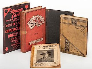 [Cheating and Expos_] Group of Five Vintage Books and Booklets. Including Kid Canfield The Reformed Confidence Man and Gambler (New York, 1911)