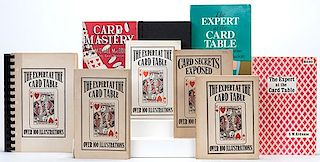 Erdnase, S.W. The Expert at the Card Table. Lot of nine different editions of the classic work (1940s _ 90s), publishers including K.C. Card Co., Char