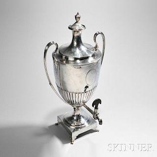 George III Sterling Silver Hot Water Urn