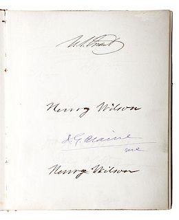 Ulysses S. Grant's 2nd Administration and the 43rd Congress, Autograph Album, 1875
