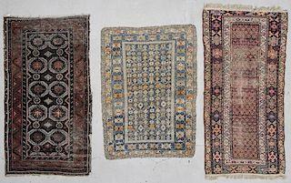 3 Antique Caucasian/Persian Rugs