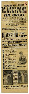 Blackstone, Harry (Henry Boughton). Fredrik the Great and Blackstone the Great Broadsides.