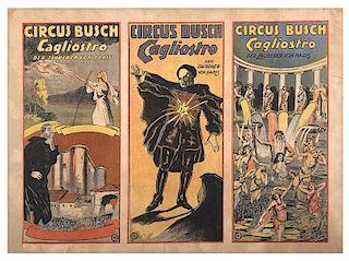 Cagliostro. Circus Busch. Cagliostro. Der Zauberer Von Paris.