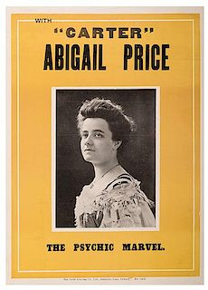 "[Carter, Charles] With ""Carter"". Abigail Price. The Psychic Marvel."