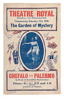 Chefalo (Raffaele Chefalo).  The Garden of Mystery. Chefalo with Palermo.