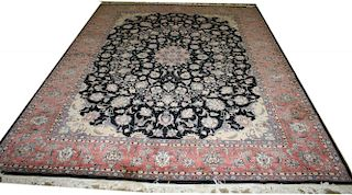 """mid 20th c Persian all-over floral main carpet, 9' 3"""" x 12' 5""""mid 20th c Persian all-over floral mai"""