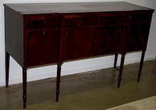 "19th c Massachusetts Sheraton mahogany sideboard. 72""w x 42""h x 24""d."