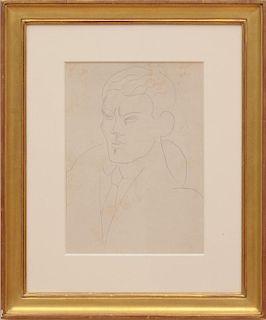 AMEDEO MODIGLIANI (1884-1920): PORTRAIT OF GASTON LONGCHAMP