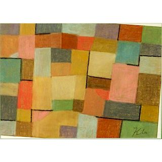 Attributed to: Paul Klee, Swiss (1879-1940) Pastel on Paper.