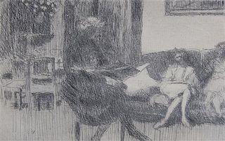 Edouard Vuillard, (French, 1864-1940), Le Salon